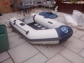 inflatable dinghy yamaha 250t 2.5m solid outboard transom slat floor , tender rib sib boat