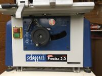 Scheppach Table Saw Precisa 2.0, Dust Extractor and Spare Blade