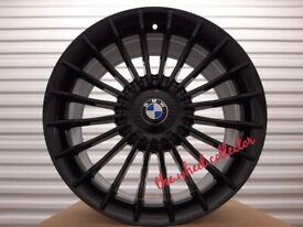 "J5* NEW 4X 18"" OR 19"" BLACK ALPINA STYLE BMW 5 4 3 2 1 SERIES ALLOY WHEELS ALLOYS M SPORT"