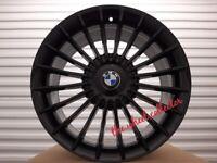 "J5* NEW 4X 18"" OR 19"" BLACK ALPINA STYLE BMW 5 4 3 2 1 SERIES ALLOY WHEELS ALLOYS M SPORT"