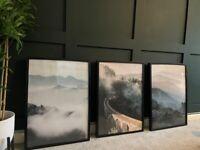 3 framed nature desino a1 wall art