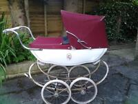vintage silver cross coach built dolls pram