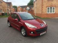 2011 PEUGEOT 207 1.4 petrol , 12 MONTH MOT, SERVICE HISTORY, LOW MILEAGE 40k, HPI CLEAR,