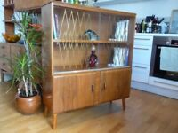 Mid Century Vintage Retro Display Cabinet / Bookcase / Sideboard , Danish Scandinavian style