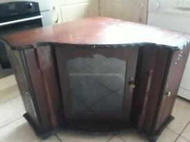 Mahogany solid corner tv unit