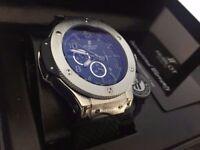 New Swiss Hublot Big Bang Silver Automatic Watch, See Through back