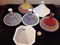 6 of Ceramic small Moroccan Tagines