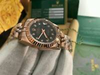 LADIES Rolex Datejust Black Dial Rose gold
