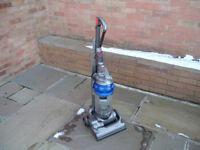 dyson dc14 allergy upright vacuum cleaner, blue/silver with tools