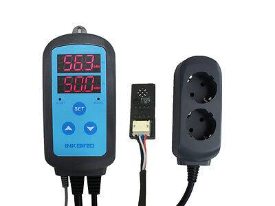Inkbird IHC-200 Feuchtigkeitsregler Vorverdrahtete AC 110V-240V Sonde EU PLUG