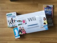Nintendo Wii Console (Includes Wii Sports) + Wii Fit Bundle