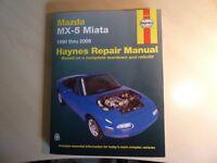 HAYNES REPAIR MANUAL FOR MAZDA MX5 NEW