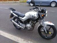 Yamaha YBR 125 Silver 2008, 12 months MOT