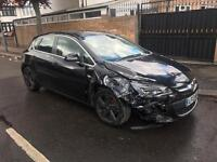 2013 13 VAUXHALL ASTRA SRI 1.6 AUTOMATIC 16K MILES UNRECORDED LIGHT DAMAGE SALVAGE REPAIRABLE