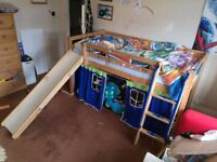 Mid sleeper single child's bed with slide