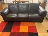 3 piece suite - 3 seat sofa and 2 armchairs