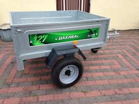 Nearly New Daxara (Erde) 127 Trailer with Bars and Cover