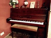 Piano and piano stool - Gebauer