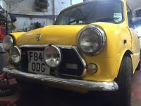 Classic Austin mini new mot rolling project