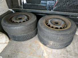 Set of 4 Steel Wheels (4x100, fits Vauxhall etc.)