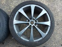 Set of Alloy wheels with good tyres 4 stud