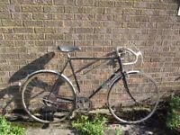 10speed BSA Sport Road Bike XL 61cm Solid Hitensile Steel Frame Fast 27'' 1 1/4 Maillard Wheels