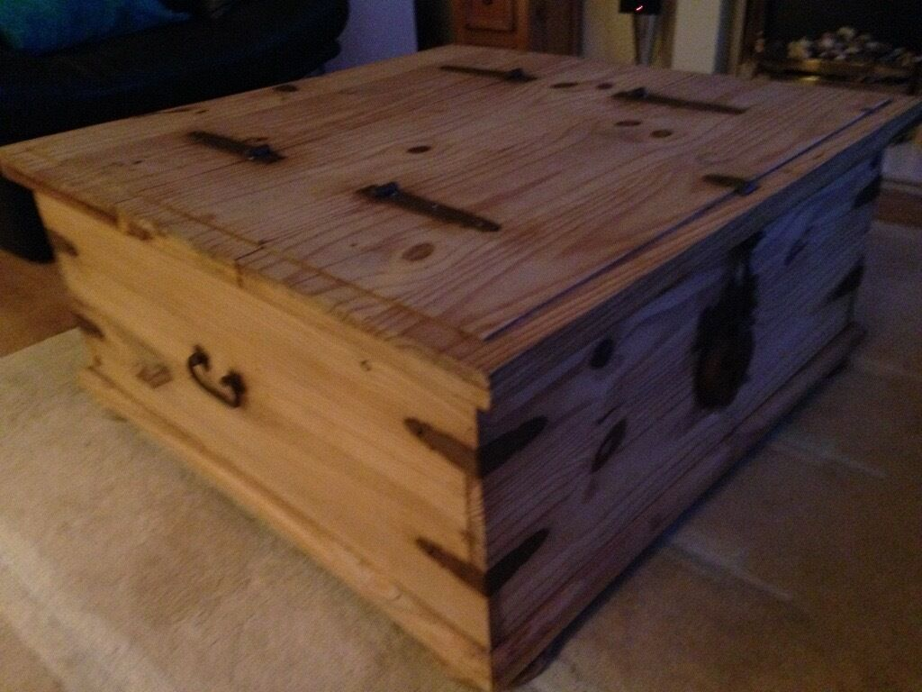 Mexican Pine Double Storage Chest Coffee Table
