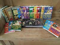 20 Horrible Histories books all new or immaculate. 1 book a large ring binder HH timeline