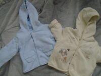 2 x Baby Jackets 0-3 months
