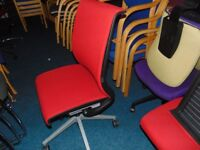 Red Steelcase Think Operating Chairs