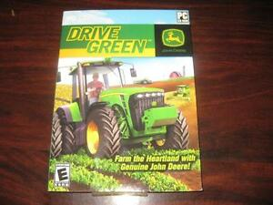 John Deere: Drive Green. PC Game DVD / Computer / Laptop / Notebook / Game System. Choose from Over 15 Tractor Vehicle