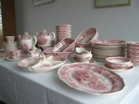 Villeroy & Boch Burgenland red Breakfast and Dinner Set for 12 persons with extras