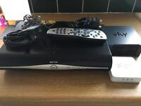 Sky + hd box remote wifi and Rueter Leeds ready to go