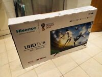 "NEW hisense 50"" 4K ultra hd smart led HDR tv.Latest model,receipt+full 3 year warranty. CAN DELIVER"