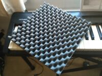Acoustic absorption tiles for music studio - 2 blocks of 18 and 1 block of 12 1ft square tiles