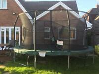 Large 'Jump King' Trampoline approx 15ft x 10ft