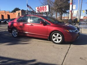 2007 Honda Civic LX,MANUAL,4D,172K,SAFETY E/T+2YEARS WARRANTY IN
