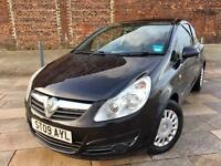 2009 VW CORSA DIESEL + BLACK + CD PLAYER + POWER STEERING + GREAT FUEL ECONOMY + FULL MOT .