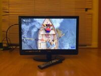 "Logik 22""Inch Full HD(1080p) LCD TV with Built-in DVD player,USB,HDMI,Remote & Freeview"