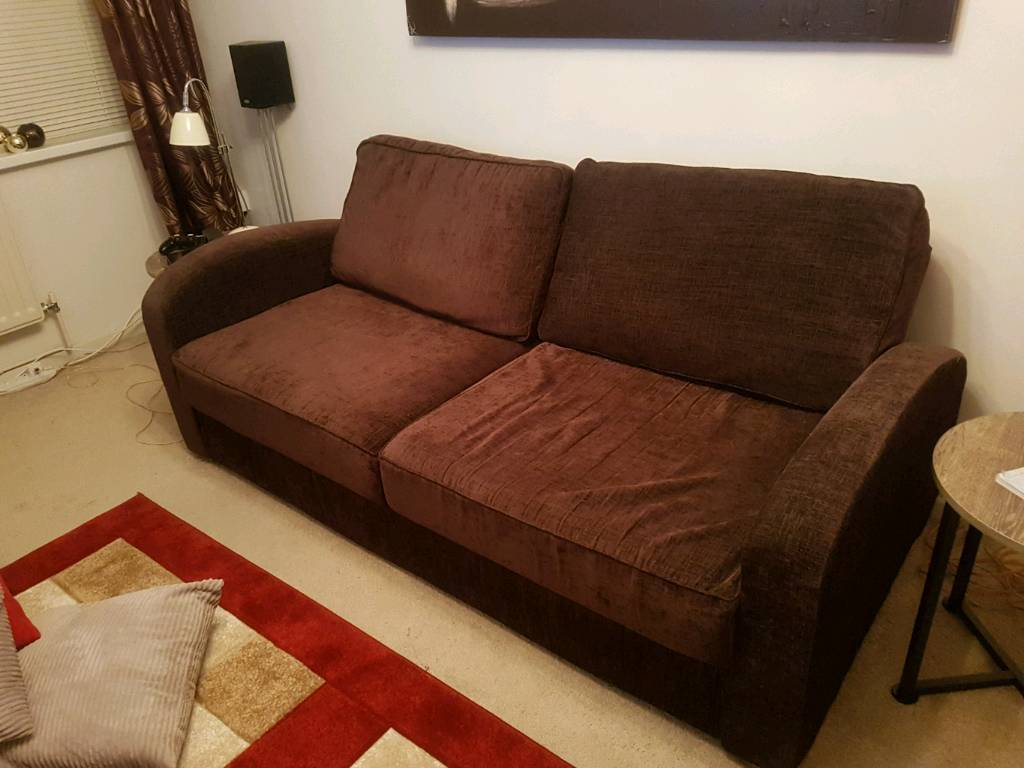 3 Seater metal action folding Sofa Bed