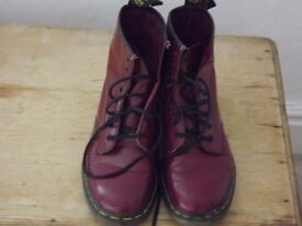 Dr Martens Boots. Cherry Red size 7