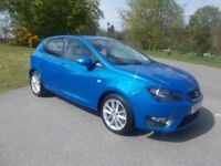 2012 12 SEAT IBIZA 2.0 TDI CR FR 5 DOOR HATCHBACK IN LOVELY ELECTRIC METALLIC BLUE CALL 07791629657