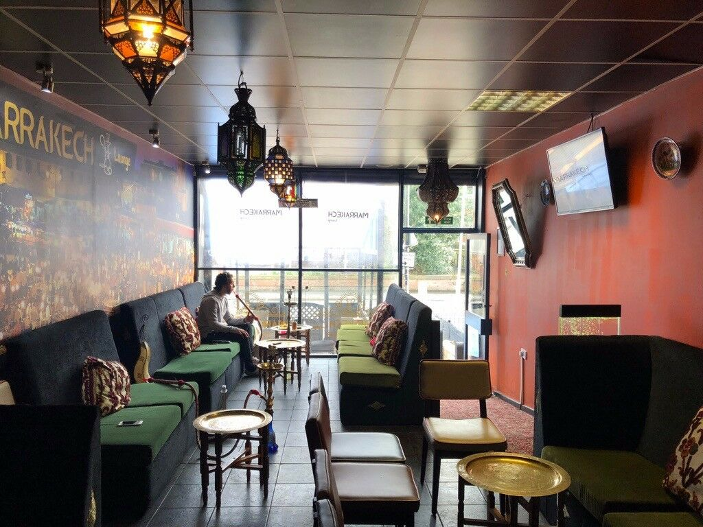 Shisha lounge coffee shop business for sale heavy footfall area 2 floors outdoor balcony