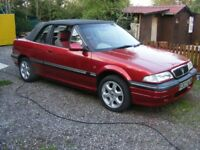 Rover 216 cabriolet. 39000 History. Last owner 20 years. Always been garaged