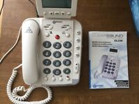 Large Buton Multifunction Telephone with handsfree dialing and larde display