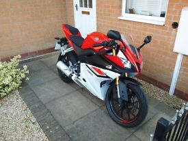 YAMAHA YZF R125 ( 15 REG ) RED & WHITE MODEL / NEW SHAPE / ABS *** LOW MILEAGE ***
