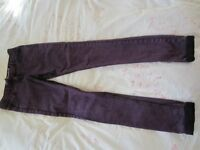Girl's purple jeans, 13-14yrs