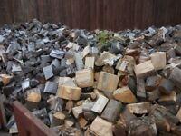 Range of logs seasoned outside