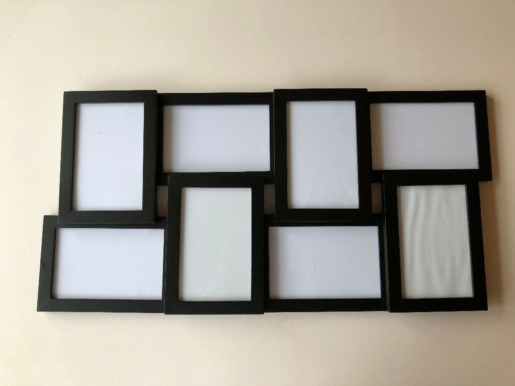 Gallery Photo Collage Frame - Black - 8 Openings - 15cm by 10cm (6 ...