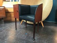 Telephone Table with Chair & Cupboard. Retro Vintage Mid Century
